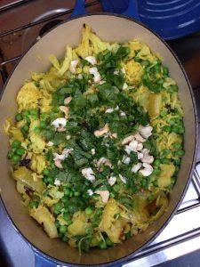 Cauliflower and Leek Biryani