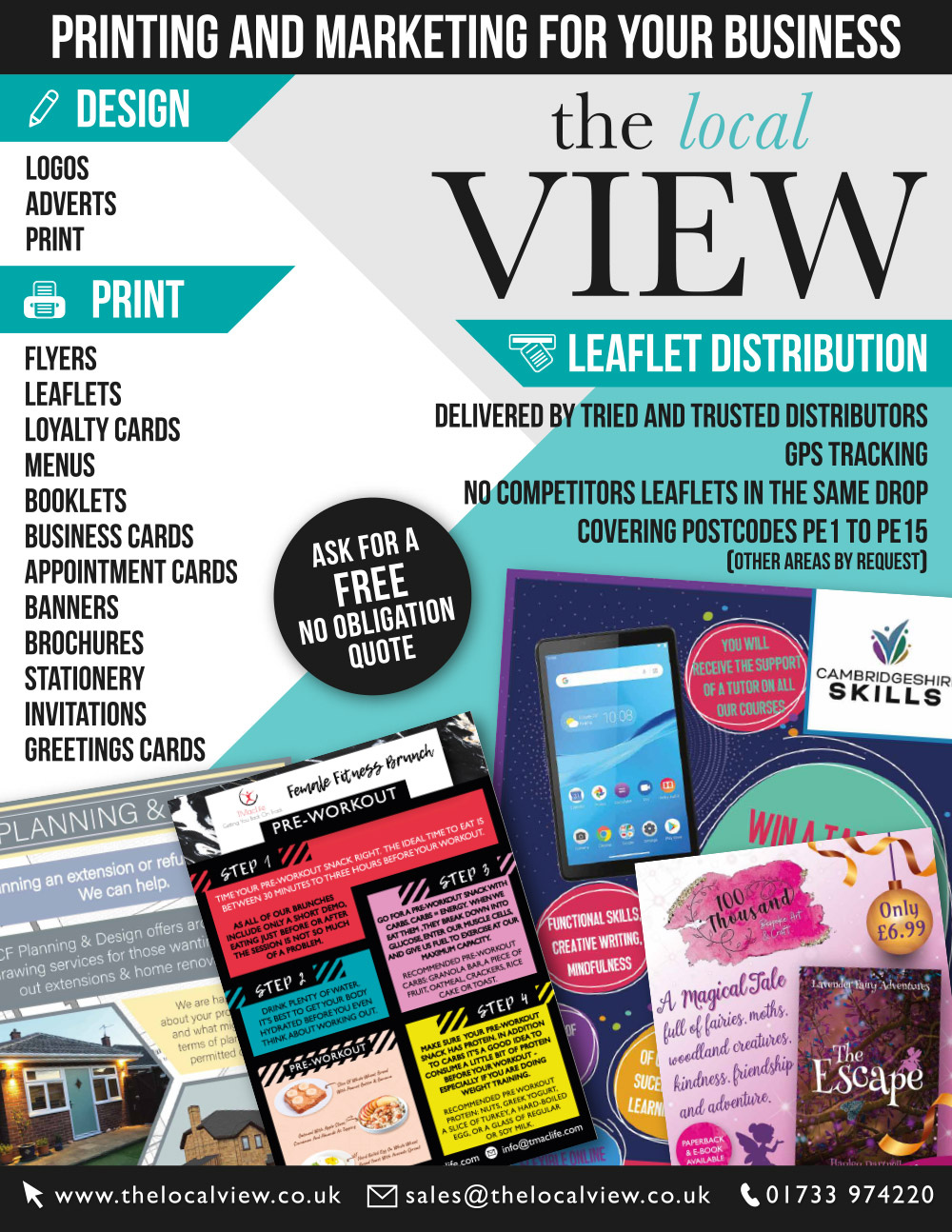 The Local View Print Design and Leaflet Distribution