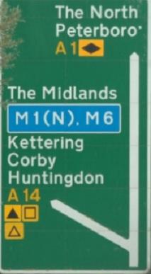 Huntingdon Road Sign